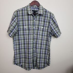 Calvin Klein Jeans Green Short Sleeve Button Down
